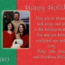 Red and Green Custom with Photos Custom Photo Christmas Cards 5 x 8