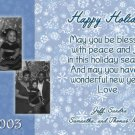 Happy Holidays with Snowflakes Blue Custom Photo Christmas Cards 5x8