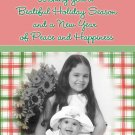 Country Christmas Plaids with Photo Custom Photo Christmas Cards 5x 8