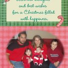 Country Canes Red and Green Custom Photo Christmas Cards 5 x 8