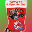 Christmas Stocking Multi Photos Custom Photo Christmas Cards 5 x 8