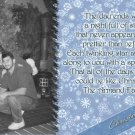 Unique Festive Snowflakes in Blue Custom Photo Christmas Cards 5 x 8