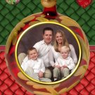 Ball Ornament Colors Red and Green Custom Photo Christmas Cards 5 x 8