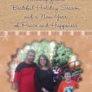 Cream and Brown and Snowflakes Custom Photo Christmas Cards 5 x 8