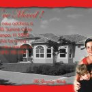 Red Border Photo Moving Announcement & Housewarming Party Invitations
