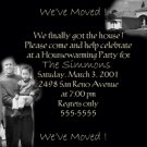 Black/White Photo Moving Announcement Housewarming Party Invitations