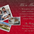 Burgundy Photo Moving Announcement & Housewarming Party Invitations