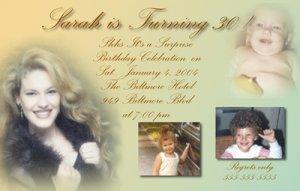 Custom Colored Multi Photos Photo Adult Birthday Invitations