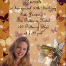 Butterflies Garden Multi Photo Photo Adult Birthday Invitations