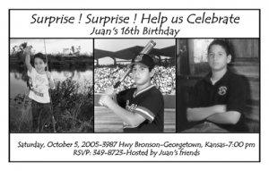 Black and White with Three Photos Photo Adult Birthday Invitations