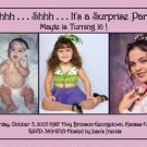 Pink and Black Now and Then 3 Photos Photo Adult Birthday Invitations