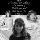 Candles black and White Multi Photo Photo Adult Birthday Invitations