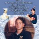 Blue Candles Multi Photo Collage Photo Adult Birthday Invitations