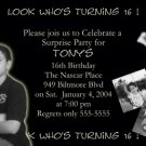 Black & White Multi Picture Collage Photo Adult Birthday Invitations