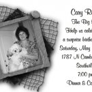 White Background and B/W Photos Photo Adult Birthday Invitations