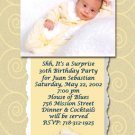 Cute 30th 40th 50th Birthday Party Photo Adult Birthday Invitations