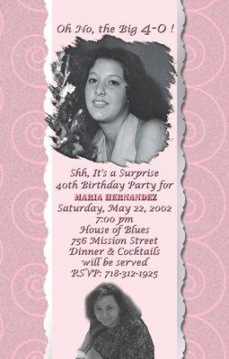 Photo Adult Birthday Invitations Nice 30th 40th 50th 60 Birthday Party