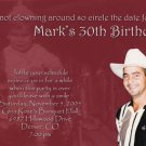 Collage of Photos Tinted to Any Color Photo Adult Birthday Invitations