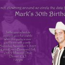Purple or Any Color Collage Photo Adult Birthday Invitations