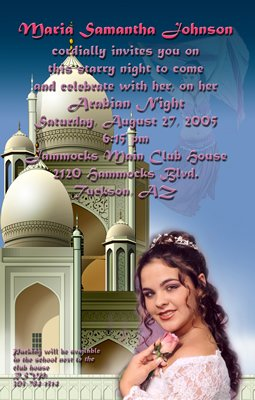 Moroccan Arabian Nights Photo Adult Birthday Invitations