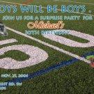 Photo Adult Birthday Invitations Football Themed 50 Yard Line