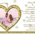 Gold Heart Engagement & Wedding Annoucements