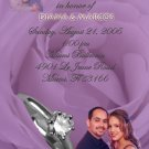 Lavender Rose Silver Ring Personalized Photo Bridal Shower Invitations