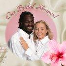 Hawaiian Luau Caribbean Tropical Photo Bridal Shower Invitations