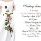 Bride Holding Rose Personalized Photo Bridal Shower Invitations