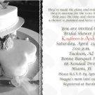 Wedding Cake with Hearts Black & White Photo Bridal Shower Invitations