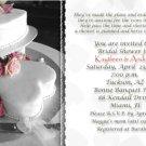 Wedding Cake with Hearts BW Photo Bridal Shower Invitations
