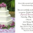 Wedding Cake and Lavender Roses Photo Bridal Shower Invitations