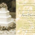 Antique Vintage Wedding Cake Golde Photo Bridal Shower Invitations