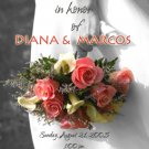 Colorful Wedding Bouquet Black & White Photo Bridal Shower Invitations