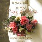 Vintage Antique Wedding Bouquet Photo Bridal Shower Invitations