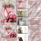 Classy Pink Roses & Satin Folded Photo Wedding Invitations Package