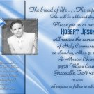 Blue  any Color Photo Communion Invitations & Confirmation Invitations