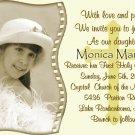 Golden Cross Photo Communion Invitations & Confirmation Invitations
