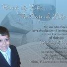 Light Blue Bible Bread Photo Communion Invitations & Confirmation