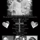 Four Photos Elegant Black Photo Communion Invitations & Confirmation