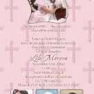 Four Photos Pink Photo Communion Invitations & Confirmation