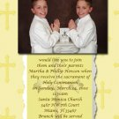 Gold Crosses Photo Communion Invitations & Confirmation Invitations