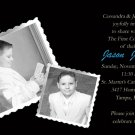 Elegant Black for Boys Photo Communion Invitations & Confirmation