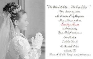 Black and White Photo Communion Invitations & Confirmation Invitations