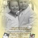 Gold Multi Picture Photo Communion Invitations & Confirmation