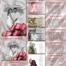 Black and White Pink Roses Folded Photo Wedding Invitations Package