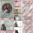 Wedding Rings and Bell Folded Photo Wedding Invitations Package