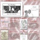 Elegant 3 pics Black & White Folded Photo Wedding Invitations Package