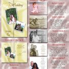 Satin Sheets Gold / Any Color Folded Photo Wedding Invitations Package