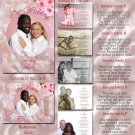 Hawaiian Hibiscus Flower Luau Folded Photo Wedding Invitations Package
